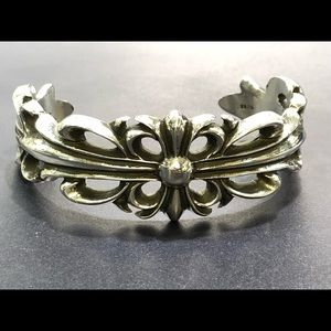 Jewelry - Double floral cross bangle by chrome hearts